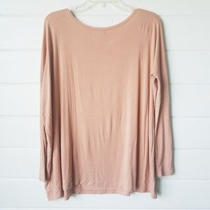 Picko 1988 long sleeve Peach top bamboo size small